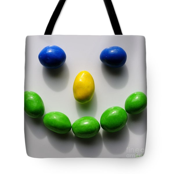 Be Happy Tote Bag by Luke Moore