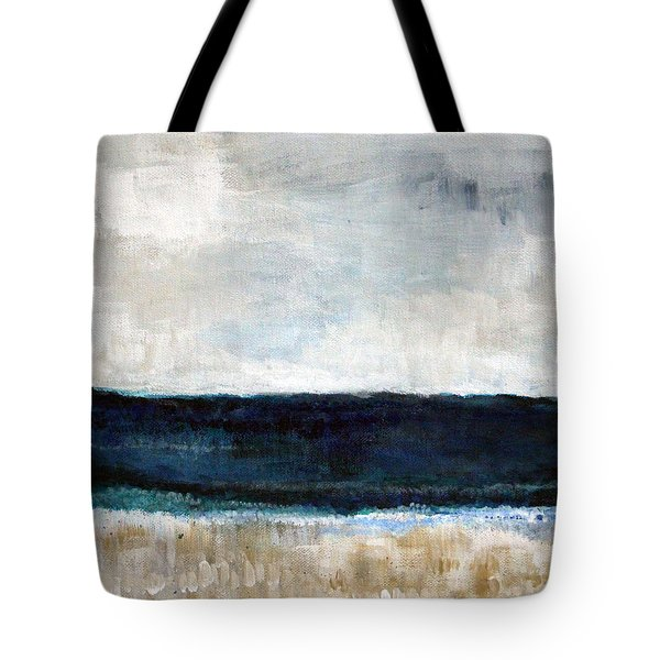 Beach- Abstract Painting Tote Bag by Linda Woods