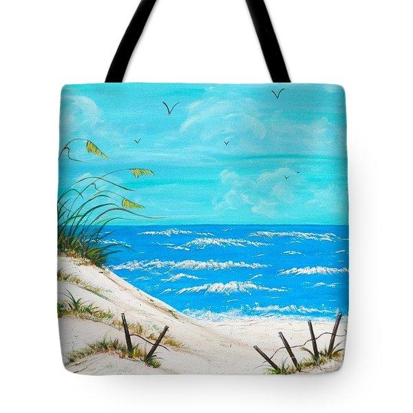 Beach Blue Tote Bag by JoNeL Art