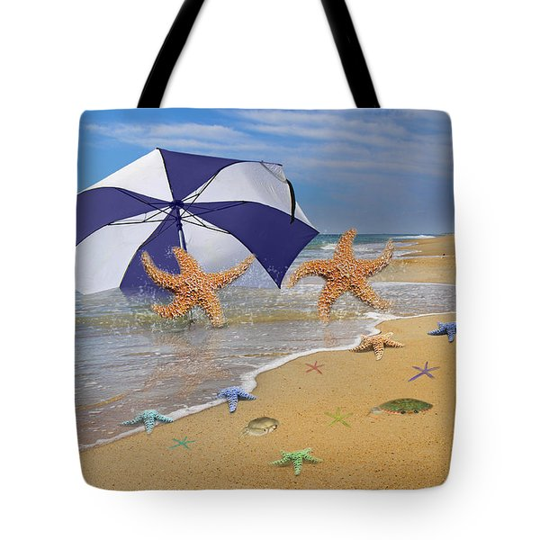 Beach Bums Tote Bag by Betsy A  Cutler