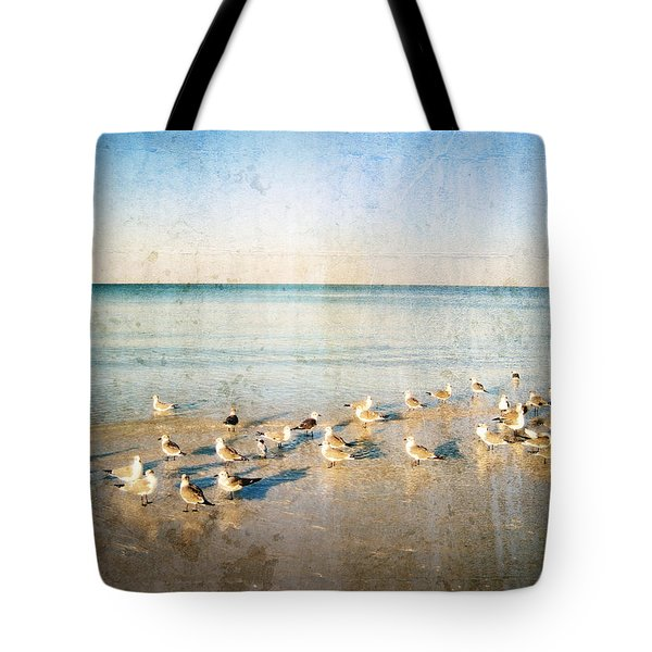 Beach Combers - Seagull Art by Sharon Cummings Tote Bag by Sharon Cummings