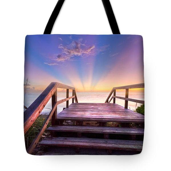Beach Dreams Tote Bag by Debra and Dave Vanderlaan