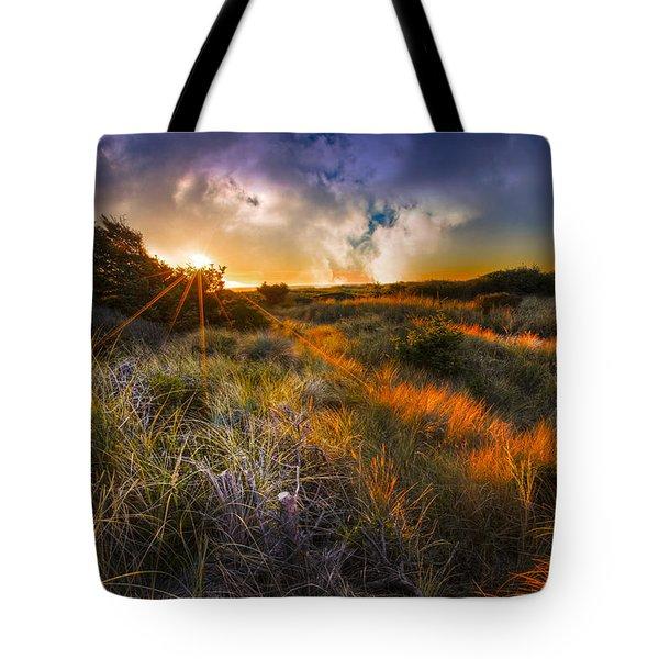 Beach Dunes Tote Bag by Debra and Dave Vanderlaan