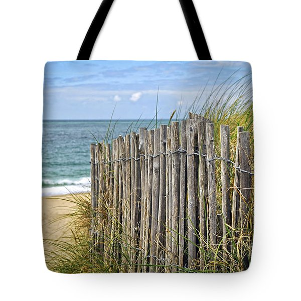 Beach fence Tote Bag by Elena Elisseeva