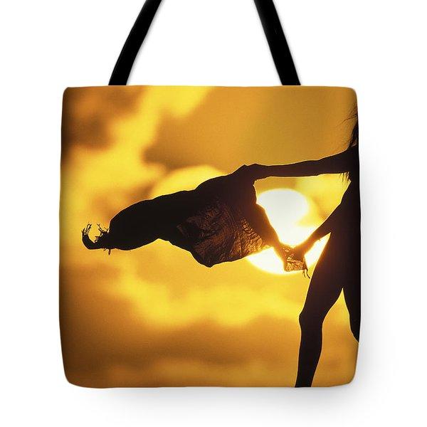 Beach Girl Tote Bag by Sean Davey