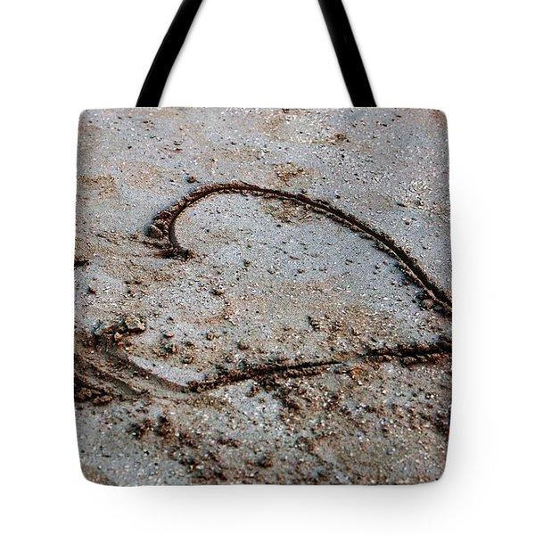 Beach Heart Tote Bag by John Rizzuto