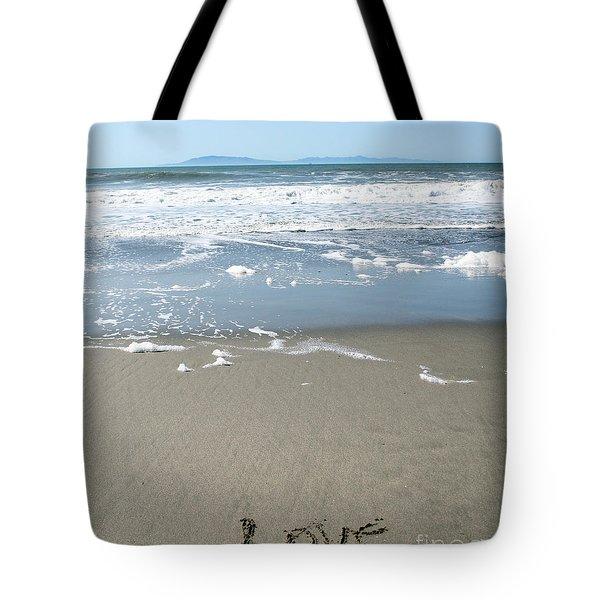 Beach Love Tote Bag by Linda Woods