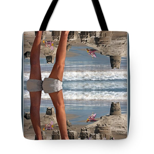 Beach Scene Tote Bag by Betsy A  Cutler