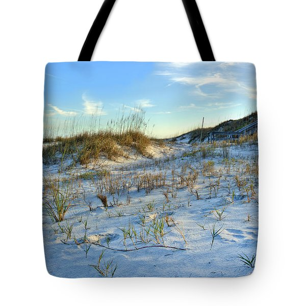 Beach Stairs Tote Bag by Michelle Wiarda