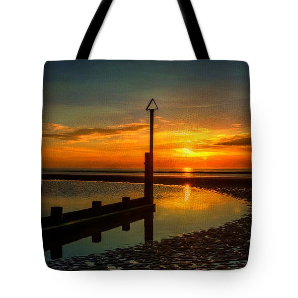 Beach Sunset Tote Bag by Adrian Evans