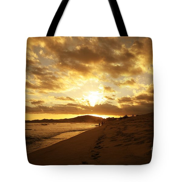 Beach Sunset Tote Bag by Cheryl Young