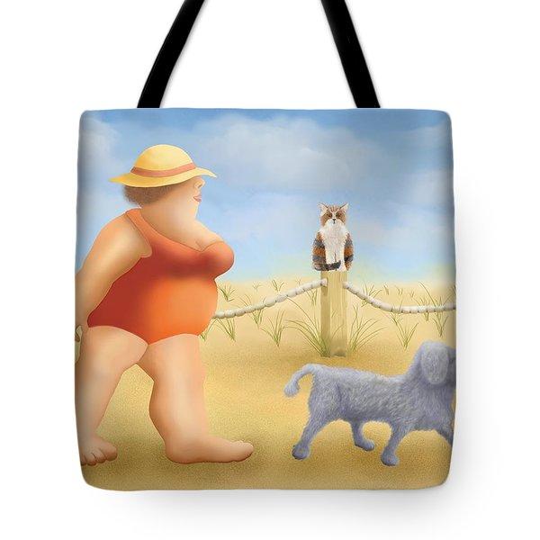 Beach Walk Tote Bag by Marlene Watson