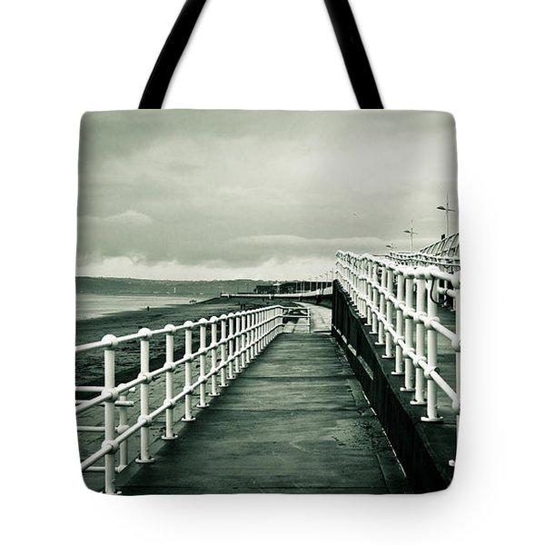 Beach walkway Tote Bag by Tom Gowanlock