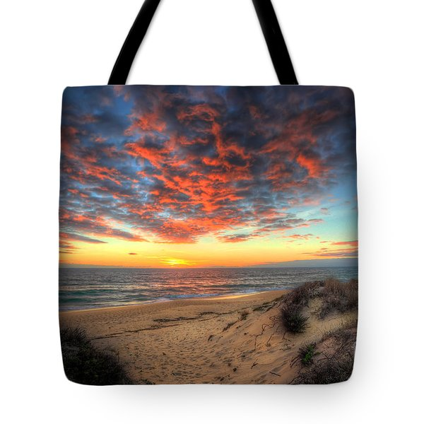 Beachcombers Sunset Tote Bag by English Landscapes