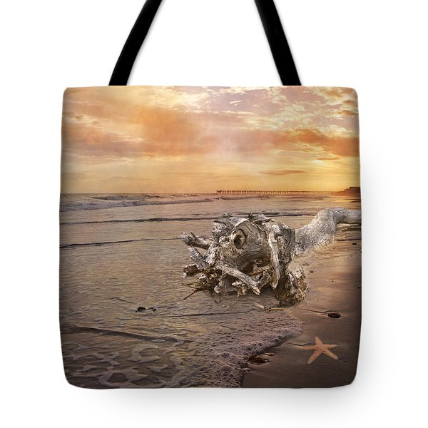 Beached Beauty Tote Bag by Betsy A  Cutler