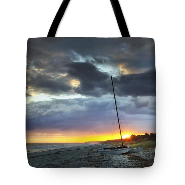 Beached For The Night Tote Bag by Phill Doherty