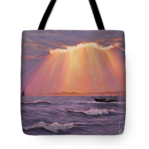 Beacons Of Light Tote Bag by Cindy Lee Longhini