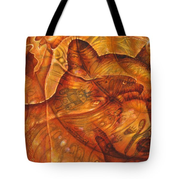 Bear Hands Tote Bag by Kevin Chasing Wolf Hutchins