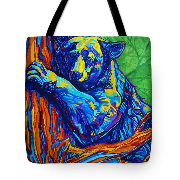 Bear Hug Tote Bag by Derrick Higgins