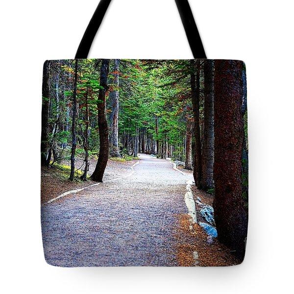 Bear Lake Trail Tote Bag by Jon Burch Photography