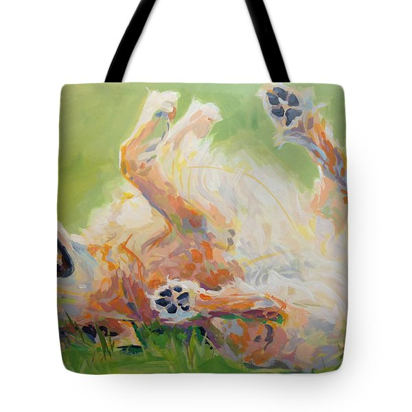 Bears Backscratch Tote Bag by Kimberly Santini