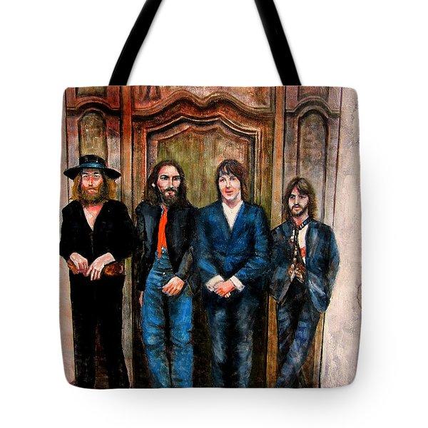 Beatles Hey Jude Tote Bag by Leland Castro