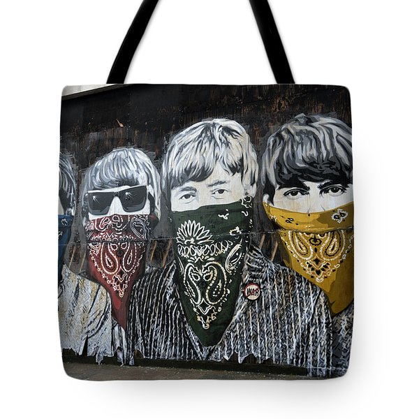 Beatles Street Mural Tote Bag by RicardMN Photography