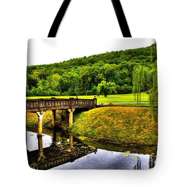 Beautiful Blowing Spring Park Tote Bag by David Patterson