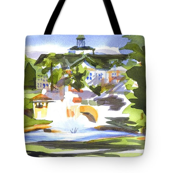 Beautiful Day at the Baptist Home of the Ozarks in Watercolor Tote Bag by Kip DeVore
