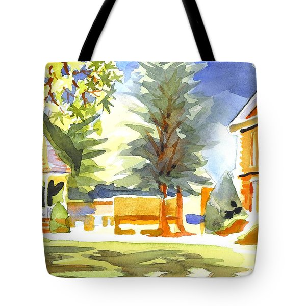 Beautiful Day On The Courthouse Square Tote Bag by Kip DeVore