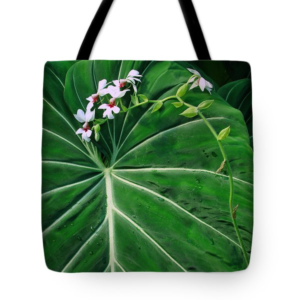 Beautiful Ivory Veins Of A Philodendron Tote Bag by Sue Melvin