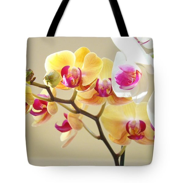 Beautiful Orchids Floral Art Prints Orchid Flowers Tote Bag by Baslee Troutman