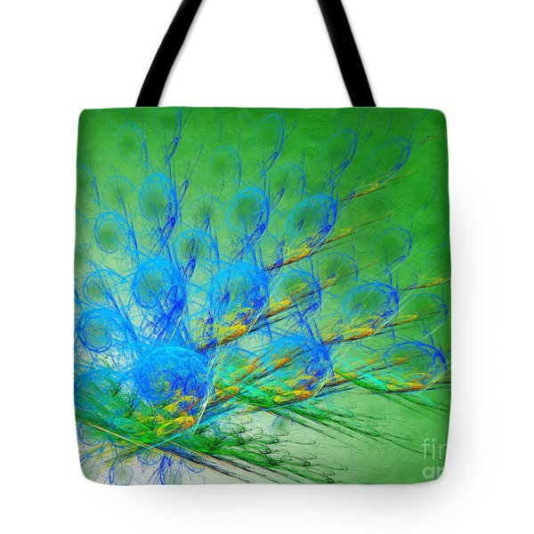 Beautiful Peacock Abstract 1 Tote Bag by Andee Design