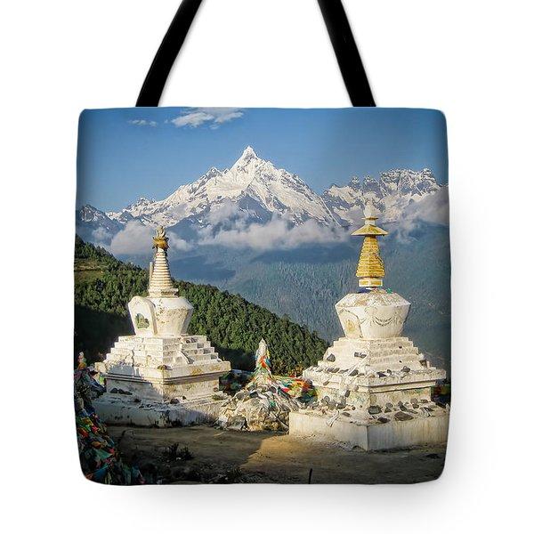 Beautiful Snow Mountain - Meili Xue Shan Tote Bag by James Wheeler