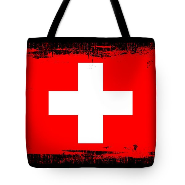 Beautiful Switzerland Flag Tote Bag by Pamela Johnson