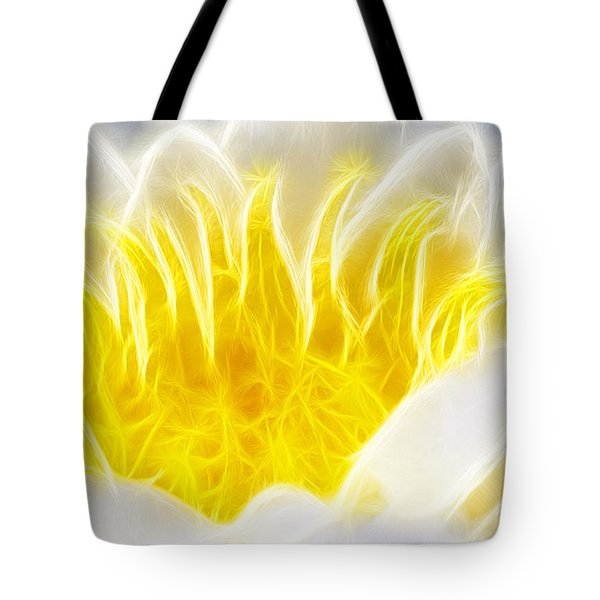 Beautiful White And Yellow Flower - Digital Artwork Tote Bag by Matthias Hauser