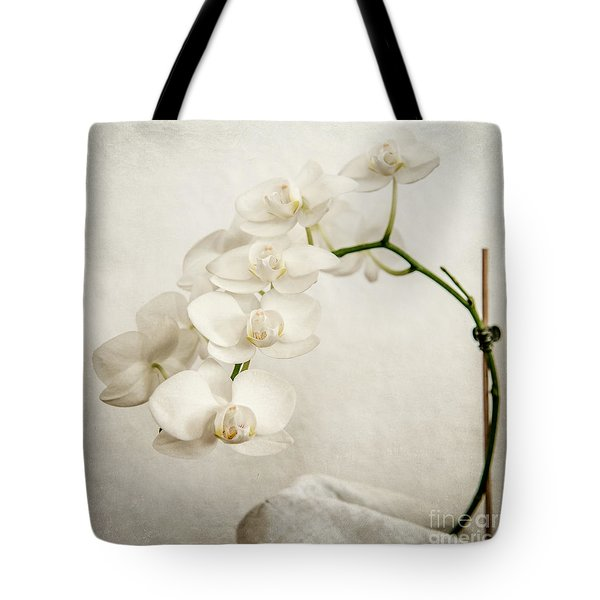 Beautiful White Orchid II Tote Bag by Hannes Cmarits