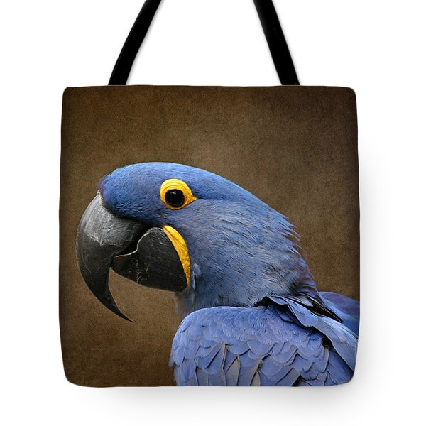 Beauty Is An Enchanted Soul - Hyacinth Macaw - Anodorhynchus Hyacinthinus Tote Bag by Sharon Mau