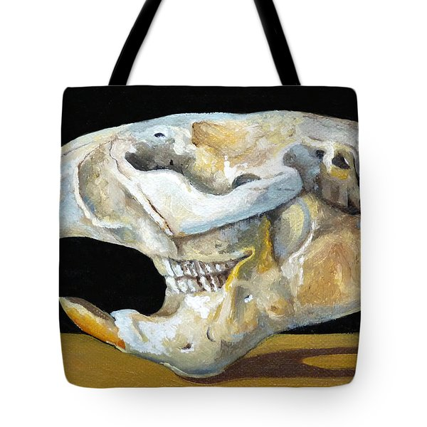 Beaver Skull 1 Tote Bag by Catherine Twomey