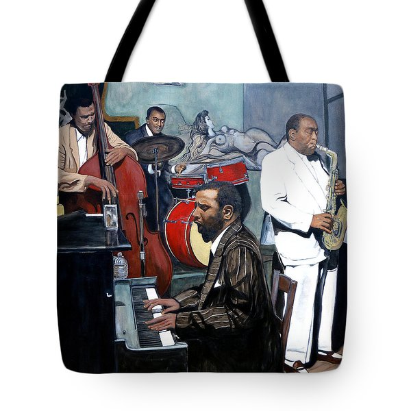 Bebop 'til You Drop Tote Bag by Tom Roderick