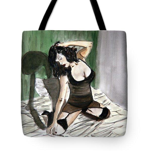 Bed Passion. Tote Bag by Shlomo Zangilevitch