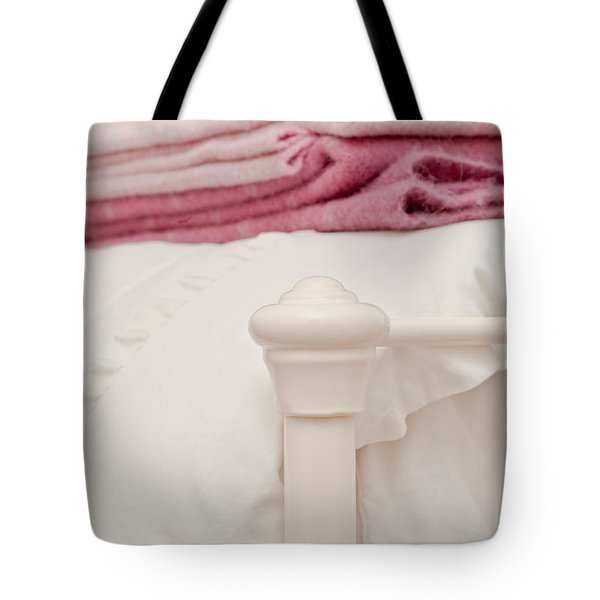 Bed post Tote Bag by Tom Gowanlock