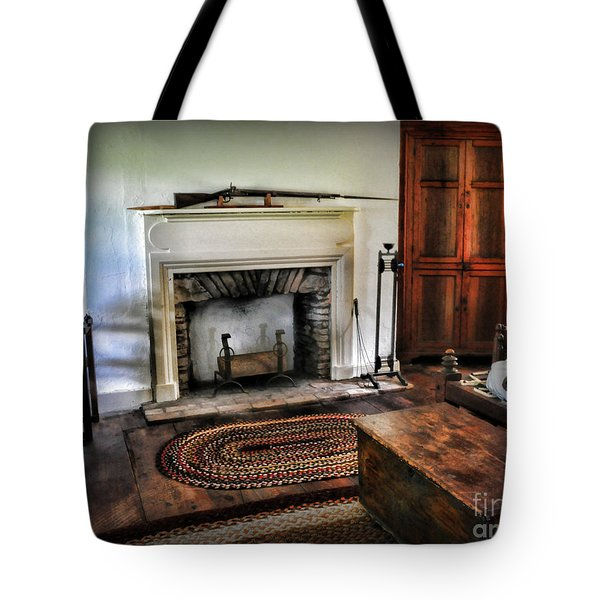 Bedroom - Colonial Style Tote Bag by Paul Ward
