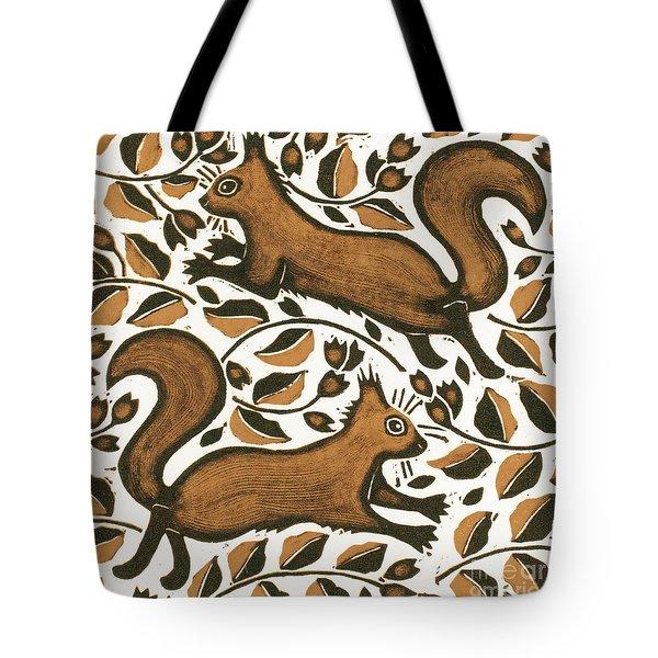 Beechnut Squirrels Tote Bag by Nat Morley