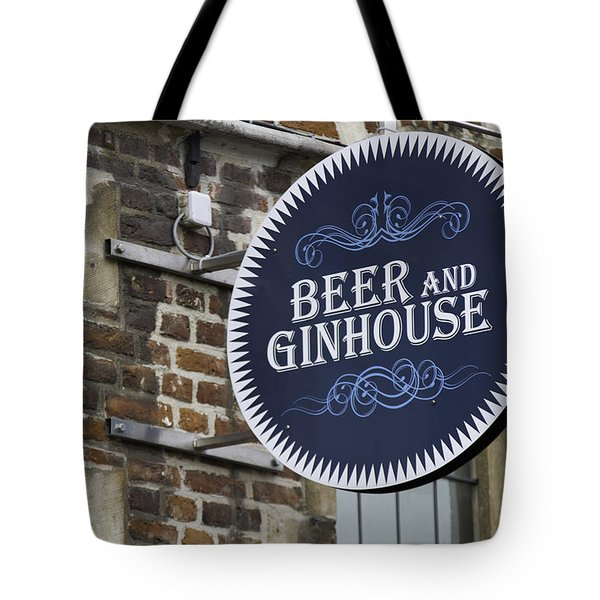 Beer And Ginhouse Tote Bag by David Freuthal