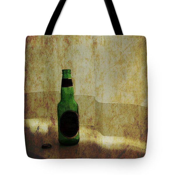 Beer Bottle On Windowsill Tote Bag by Randall Nyhof
