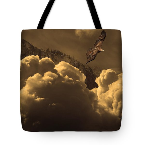 Before Memory . I Have Soared With The Hawk Tote Bag by Wingsdomain Art and Photography
