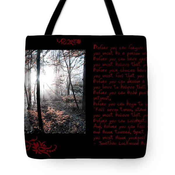 Before You Can Tote Bag by Bill Cannon