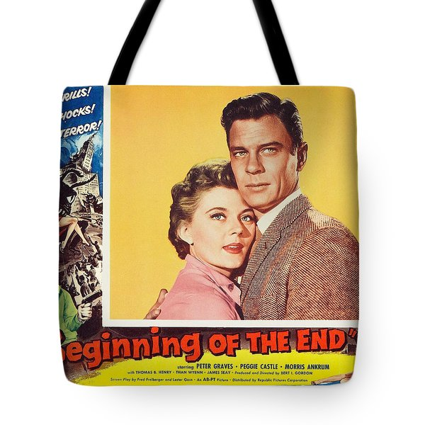 Beginning of the End 1957 Tote Bag by Mountain Dreams