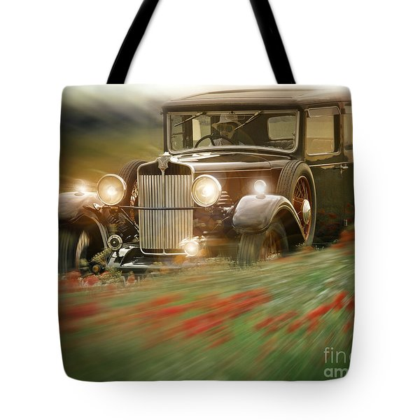 Behind The Wheel Tote Bag by Edmund Nagele